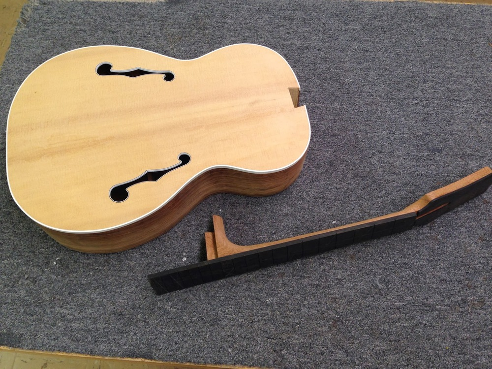 F-hole guitar with floating bridge assembly project — Shane