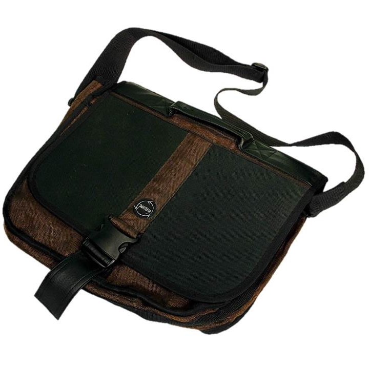 Brown Handmade, Eco Friendly, Fair Trade, Upcycled, Cambodian Briefcase