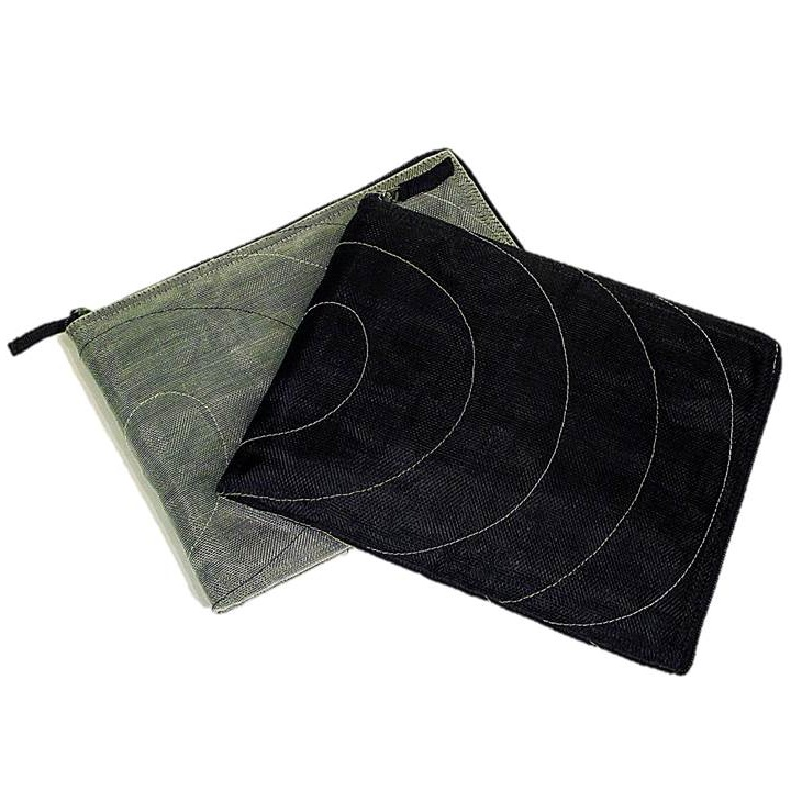Grey & Black Handmade, Eco Friendly, Fair Trade, Upcycled, Cambodian Tablet Sleeves
