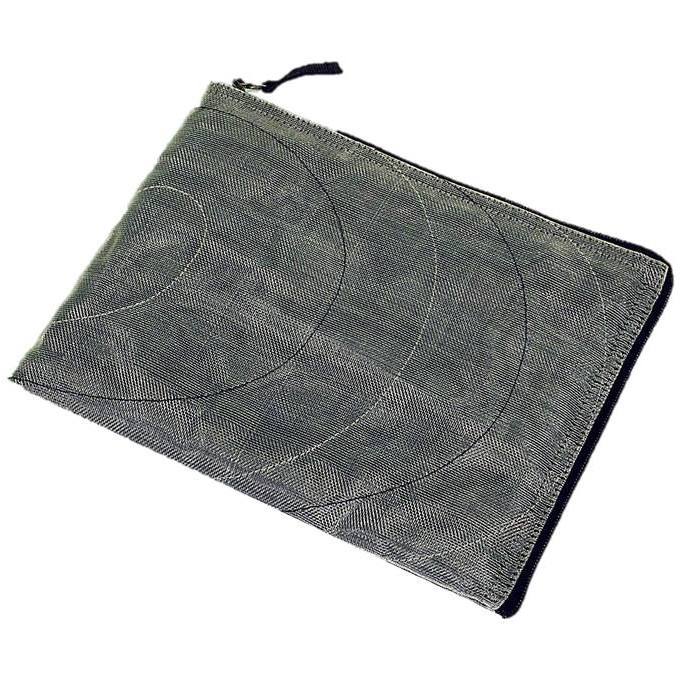 Grey Handmade, Eco Friendly, Fair Trade, Upcycled, Cambodian Tablet Sleeve