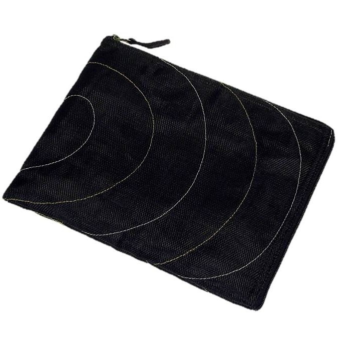 Black Handmade, Eco Friendly, Fair Trade, Upcycled, Cambodian Tablet Sleeve
