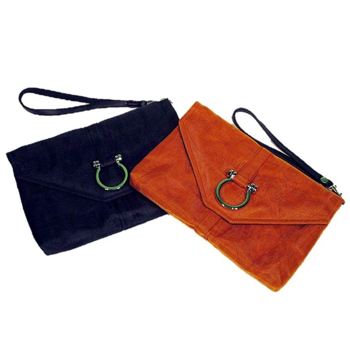 Black & Orange Handmade, Eco Friendly, Fair Trade, Upcycled, Cambodian Wristlets