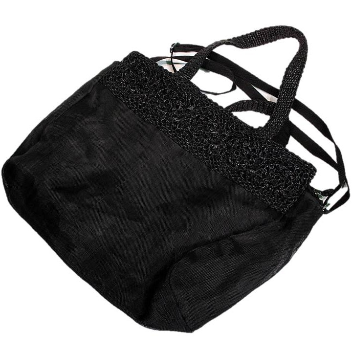 Black Handmade, Eco Friendly, Fair Trade, Upcycled, Cambodian Large Bag