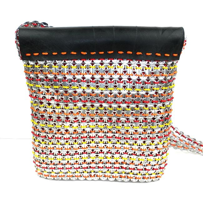 Back of Handmade, Eco Friendly, Fair Trade, Upcycled, Indian Large Coloful Purse