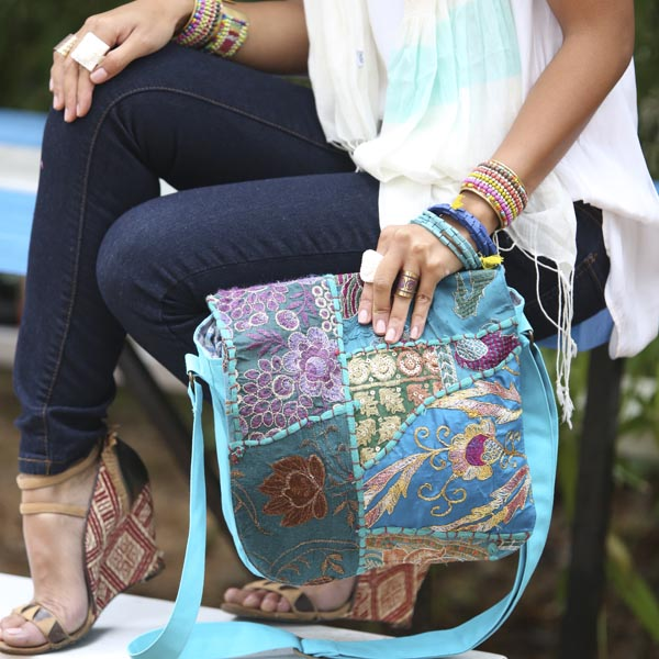 With Person Handmade, Eco Friendly, Fair Trade, Upcycled, Indian Medium Purse