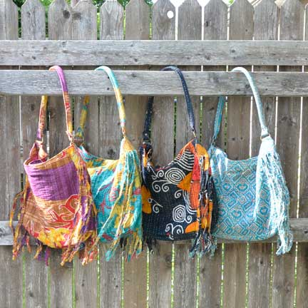 Handmade, Eco Friendly, Fair Trade, Upcycled, Indian Large Purses
