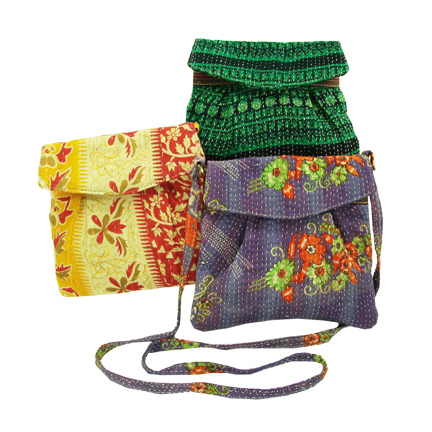 Handmade, Eco Friendly, Fair Trade, Upcycled, Indian Small Purses A