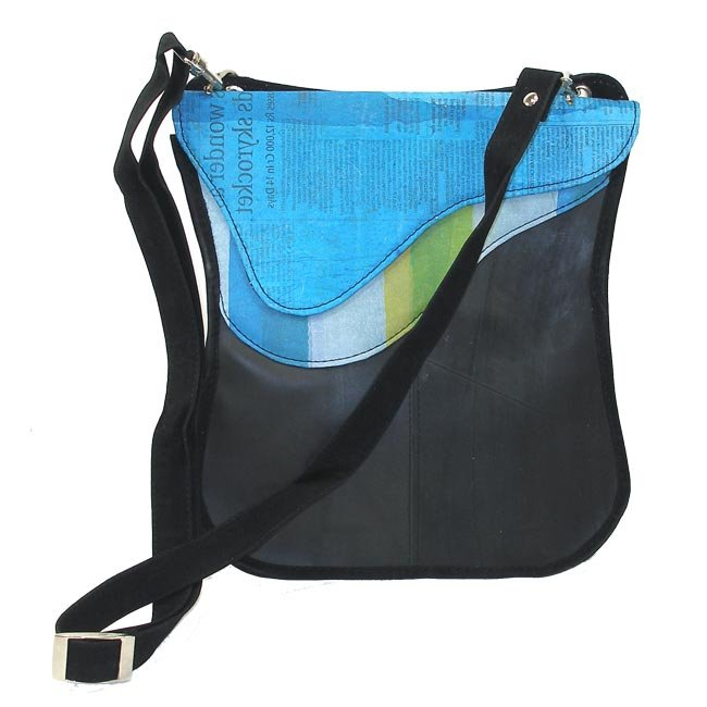 Handmade in Nepal & India / Eco Friendly, Fair Trade & Upcycled Large Purse