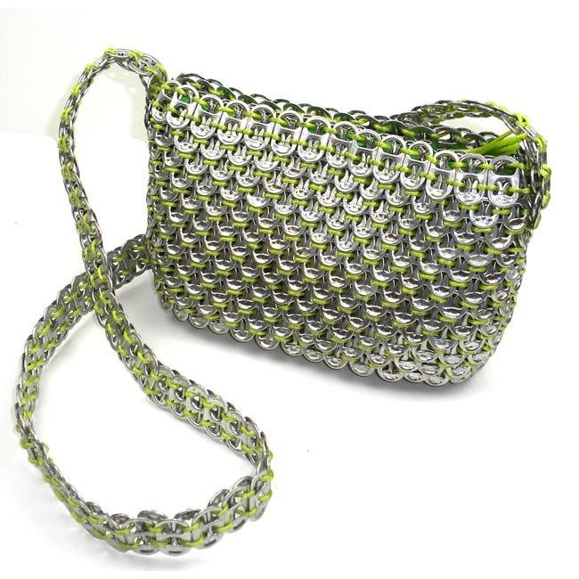 Upcycled Pop Tops, Medium Purse, Handbag, Handmade, Eco Friendly, Fair Trade