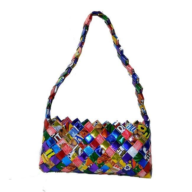 Handmade in Mexico / Eco Friendly, Fair Trade & Upcycled Medium Purse
