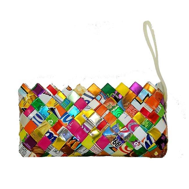 Upcycled Candy Wrappers, Wristlet, Purse. Handbag, Handmade, Eco Friendly, Fair Trade