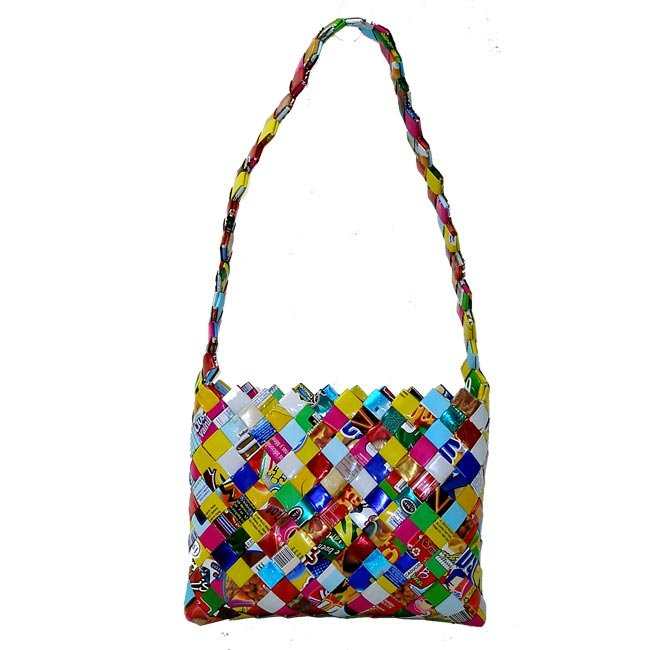 Upcycled Candy Wrappers, Large Purse, Handbag, Handmade, Eco Friendly, Fair Trade