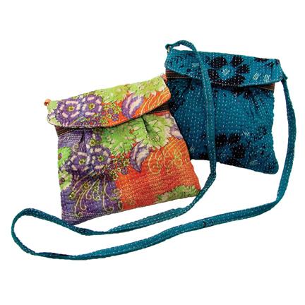 Upcycled Kantha, Small Purses A, Handbag, Handmade, Eco Friendly, Fair Trade