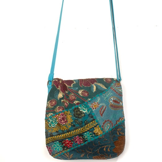 Upcycled Sarees, Medium Purse, Handbag, Handmade, Eco Friendly, Fair Trade