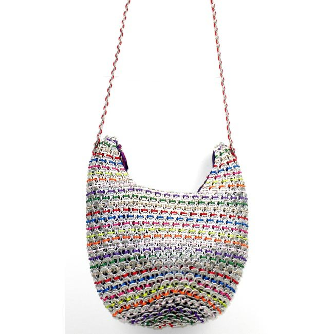 Upcycled Pop Tops, Large Purse, Handbag, Handmade, Eco Friendly, Fair Trade
