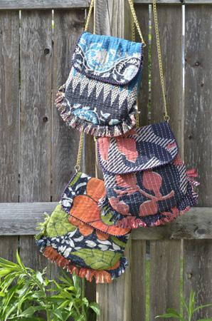 Handmade, Eco Friendly, Fair Trade, Upcycled, Indian Medium Purses