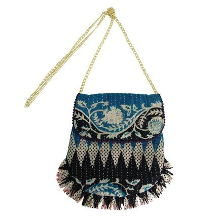 Handmade, Eco Friendly, Fair Trade, Upcycled Kantha, Indian Medium Purses