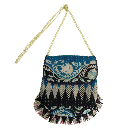 Upcycled Kantha, Medium Purses, Handbag, Handmade, Eco Friendly, Fair Trade