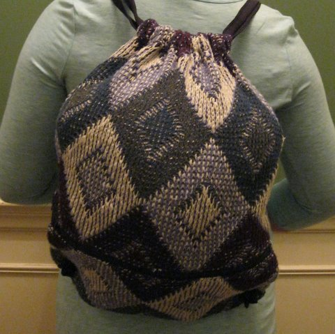 Upcycled Sweaters, Backpack, Handmade, Eco Friendly, Fair Trade