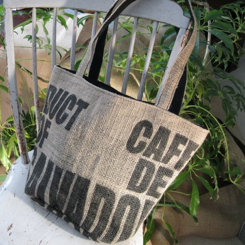Upcycled Coffee Bean Bags, Large Purse, Handmade, Eco Friendly, Fair Trade