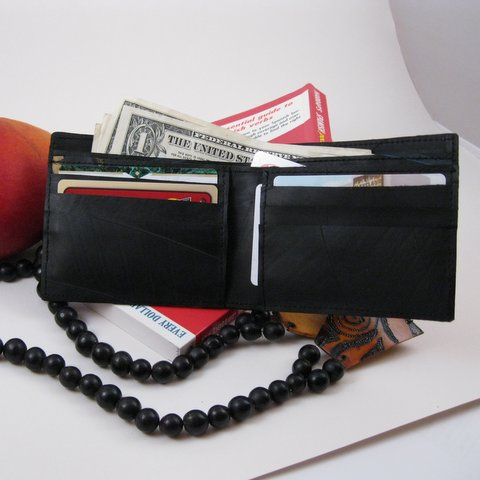 Wallet, Upcycled Tire Tubes, Handmade, Eco Friendly, Fair Trade