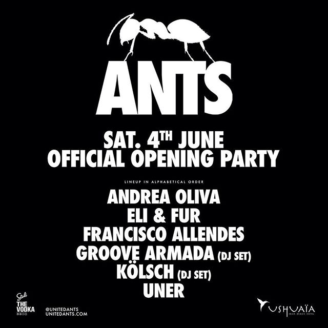 #ibiza are you ready? @unitedants opening party 🙌🙌👌
