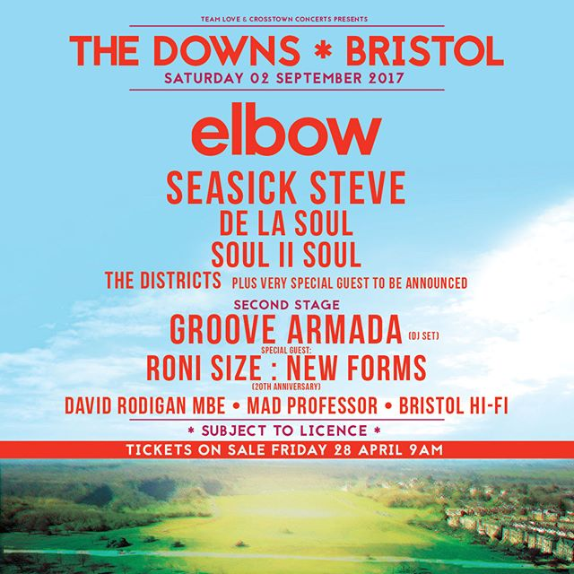 Back to #Bristol for The Downs festival - first time back in a while ❤️