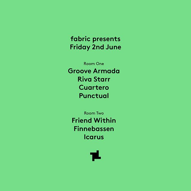 Ready for the return to #fabric tonight! Hope we're gonna see some of you there x