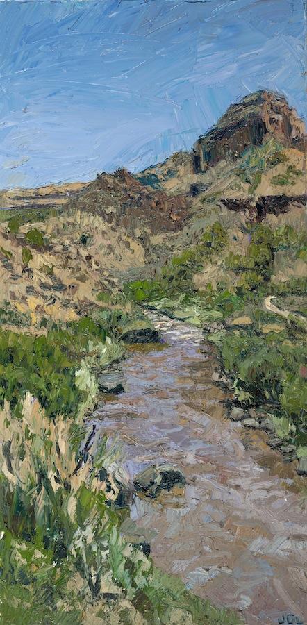 Rio Grande triptych - blustery midday