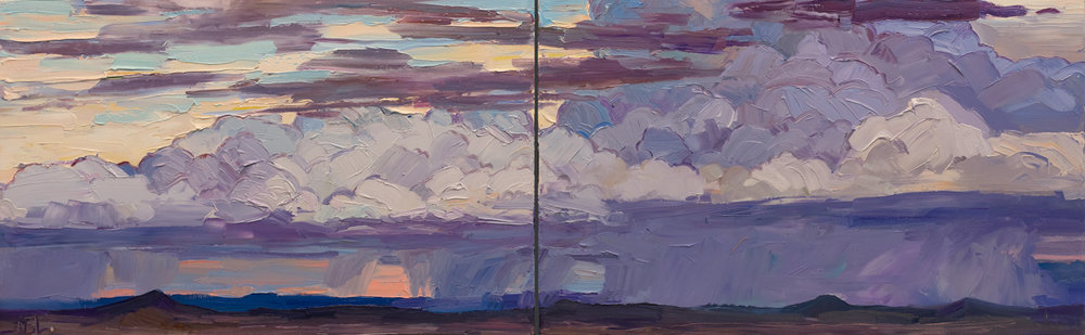 "Evening Swell, 20"" x 64"". On view at forthcoming solo, Our Land, at Altamira Fine Art - Scottsdale, 2/6 - 2/18/17 – (480) 949-1256 or az@altamiraart.com"