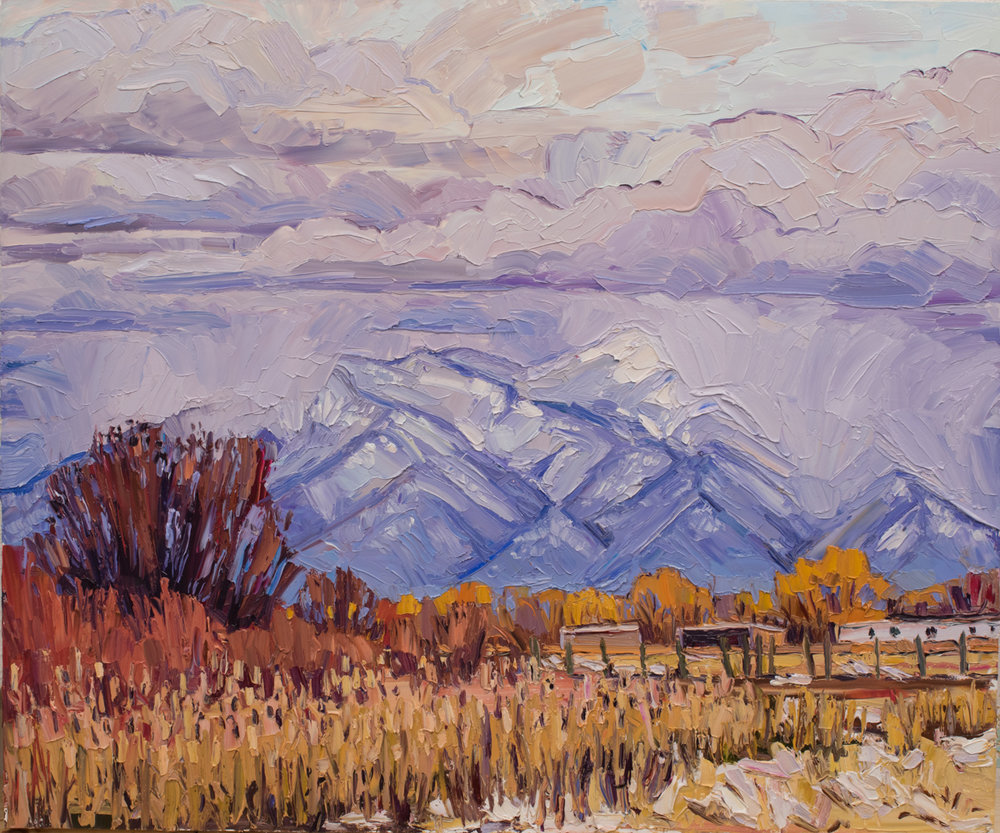 Taos Mountain - winter squalls