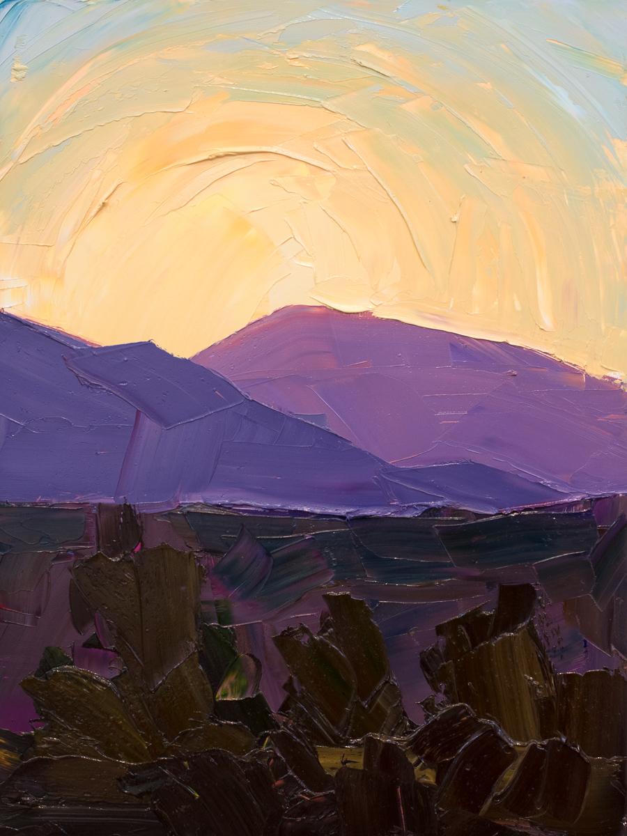 Illuminated ridges 3 - lavender and blue