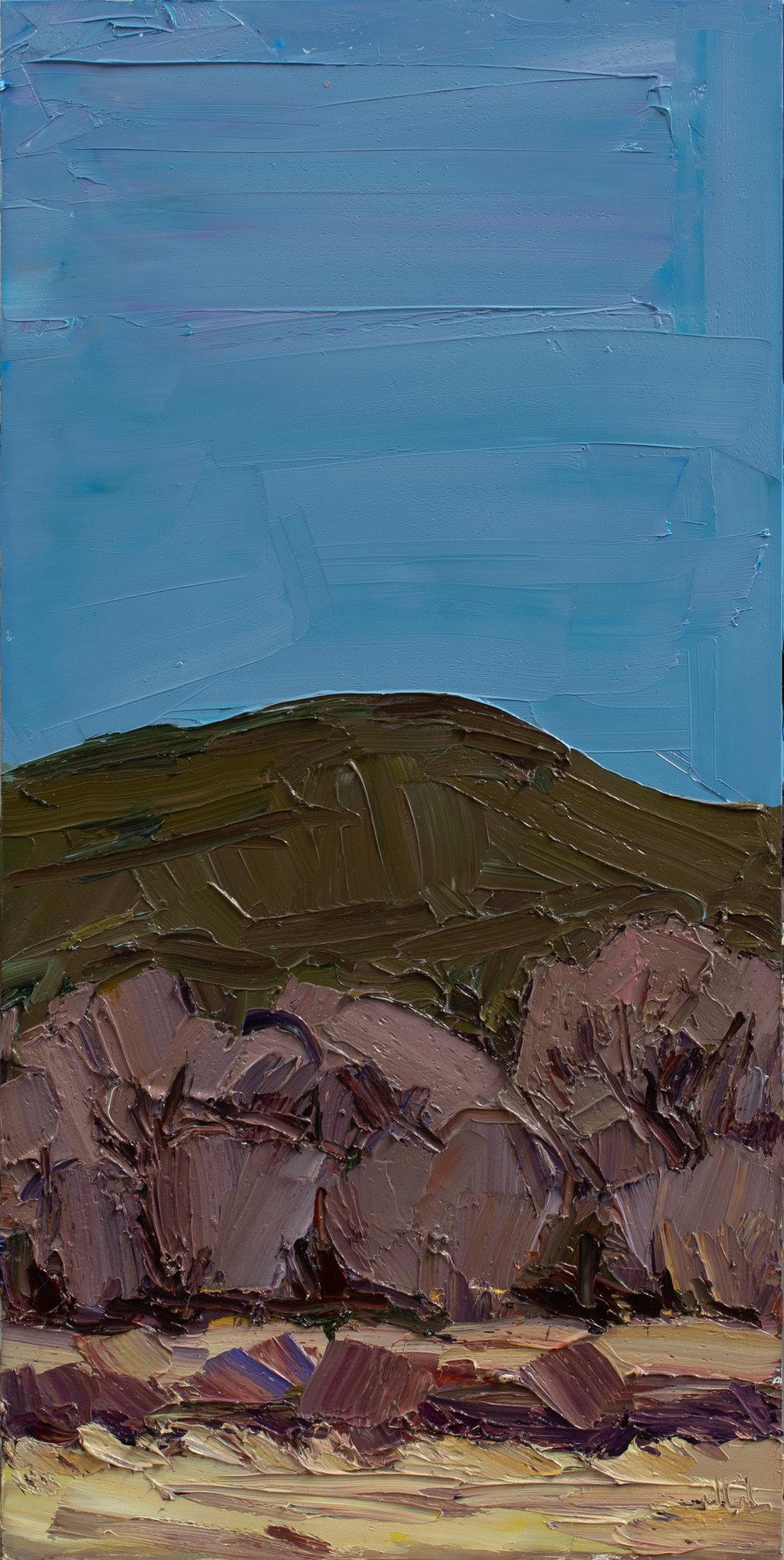 Field to dusk blue