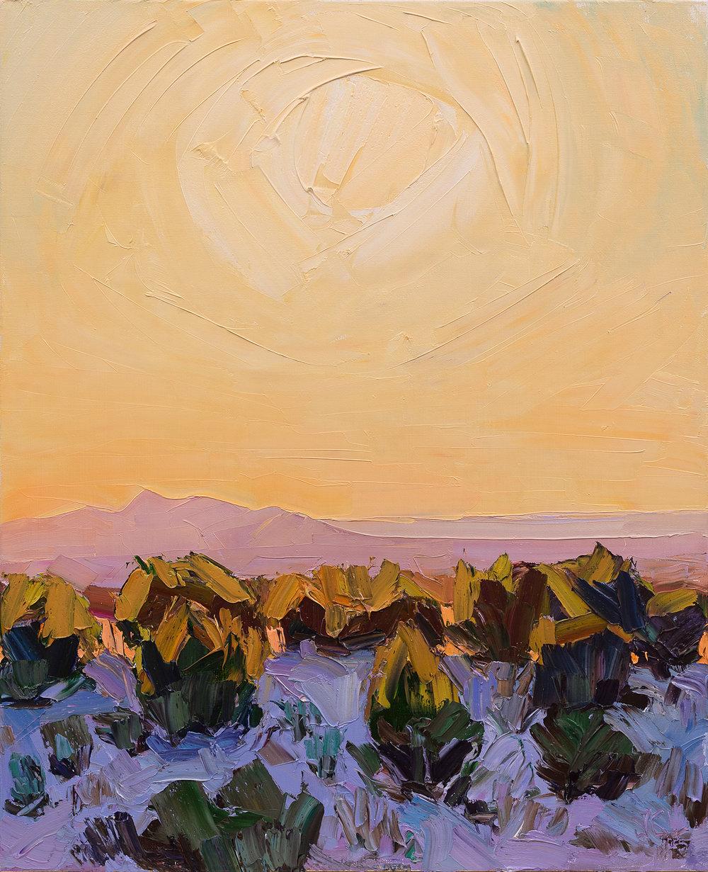 Santa Fe overlook #5 - low sun falling