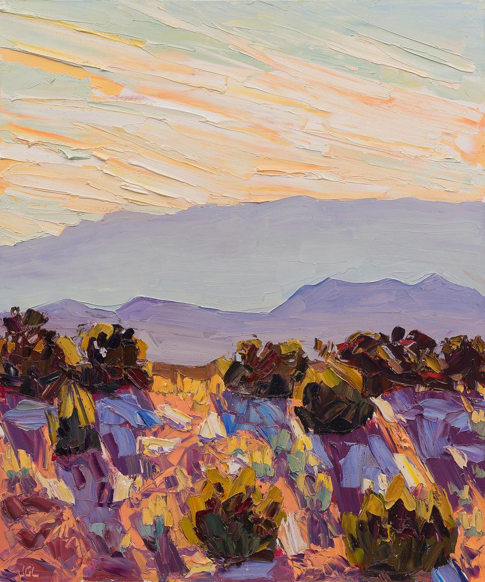 Santa Fe overlook #6 - midday shadows