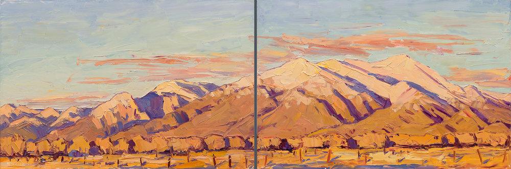 "Sunset in Taos, 24"" x 72.5"""