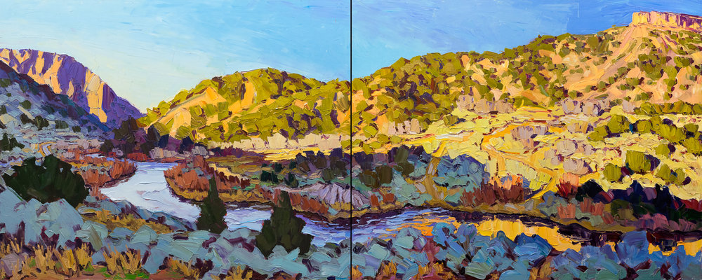 Rio Grande #3 - morning light, 48x120""