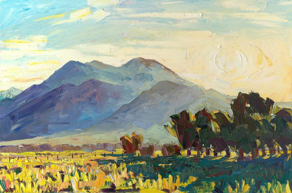 El Prado #2 - Sunrise over Taos Mountain