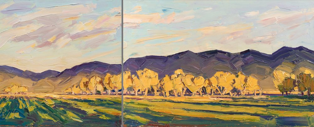 Late light on the fall pasture