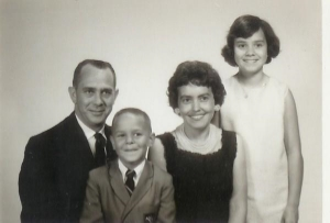 My mom with her mom & dad and brother.