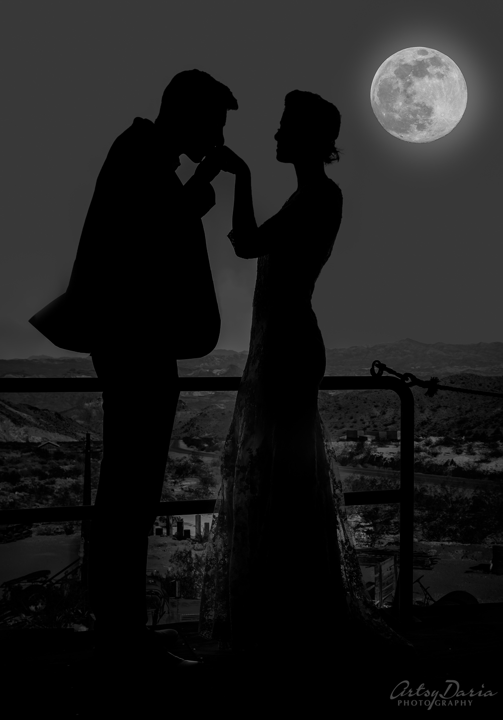 moon light wedding artsydaria