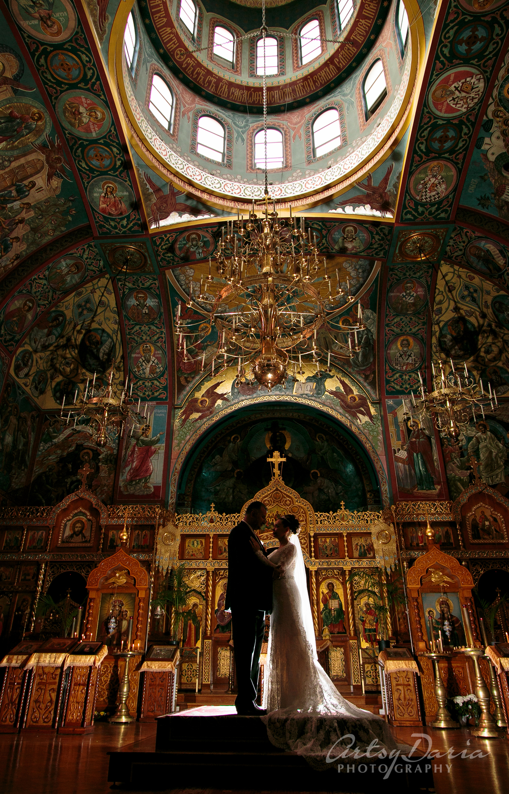 Irina's and Artak's ceremony at the Russian Orthodox Holy Virgin Cathedral was so emotional and beautiful.