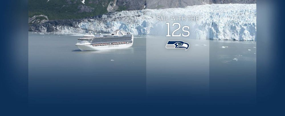 Experience the Spirit of the 12s on an Alaska Cruise Celebrate this Father's Day with Dad and the 12s! This summer, travel to the Great Land with Princess, the Official Cruise Line of the Seattle Seahawks. On a cruise to Alaska, take in spectacular glaciers and abundant wildlife while enjoying EXCLUSIVE Seahawks content and onboard activities. Image supplied by Princess Cruises