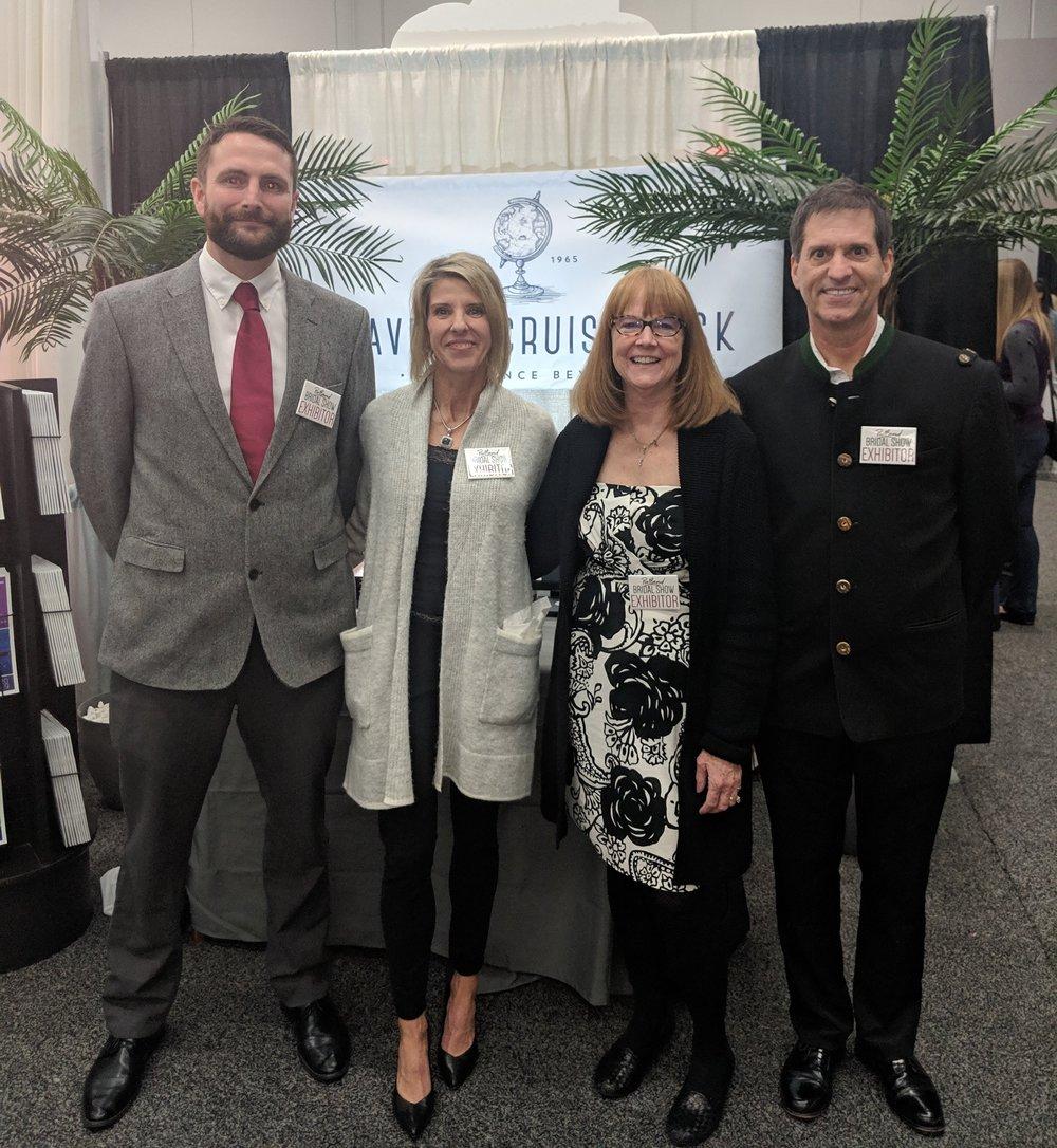 Jamie, Michelle, Melinda & Michael @ the 2019  Portland Bridal Show
