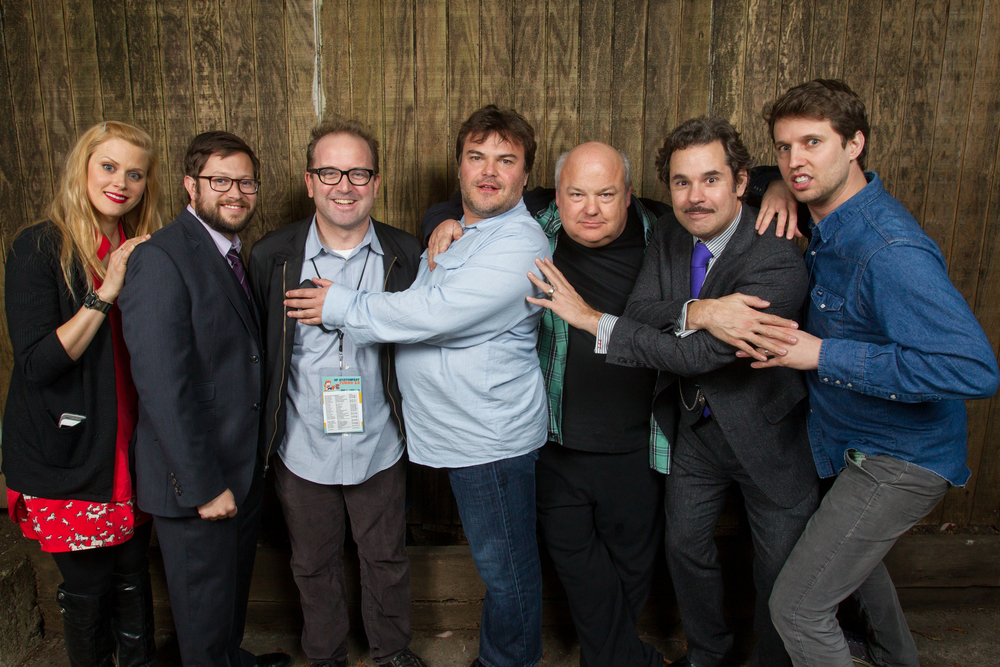 Janet Varney, David Owen, Jack Black, Kyle Gass, Paul F. Tompkins and Jon Heder. Photo by Jakub Mosur.