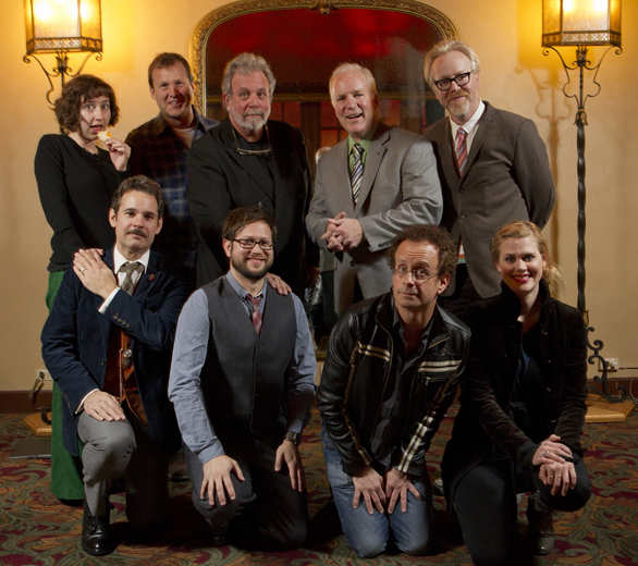 Kristen Schaal, Michael J. Nelson, Kevin Murphy, Bill Corbett, Adam Savage, Paul F. Tompkins, Kevin McDonald and Janet Varney. Photo by Jakub Mosur.