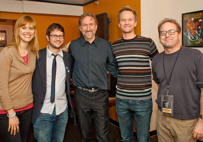 Janet Varney, Brian Henson, Neil Patrick Harris, David Owen. Photo by Jakub Mosur.