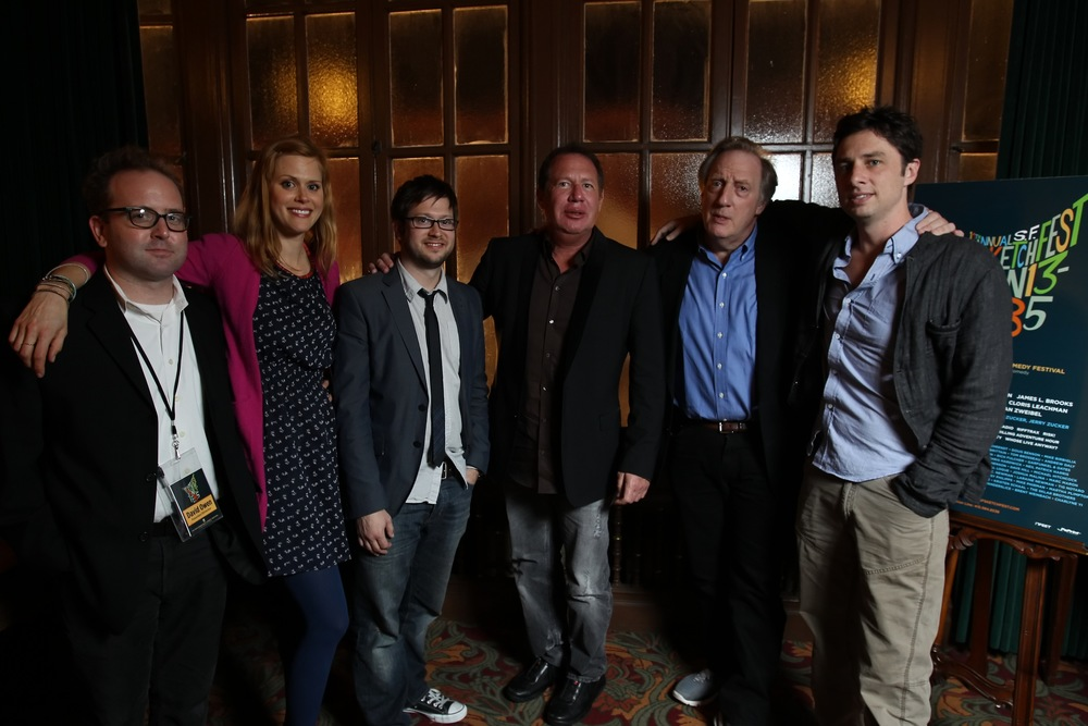 David Owen, Janet Varney, Garry Shandling, Alan Zweibel and Zach Braff