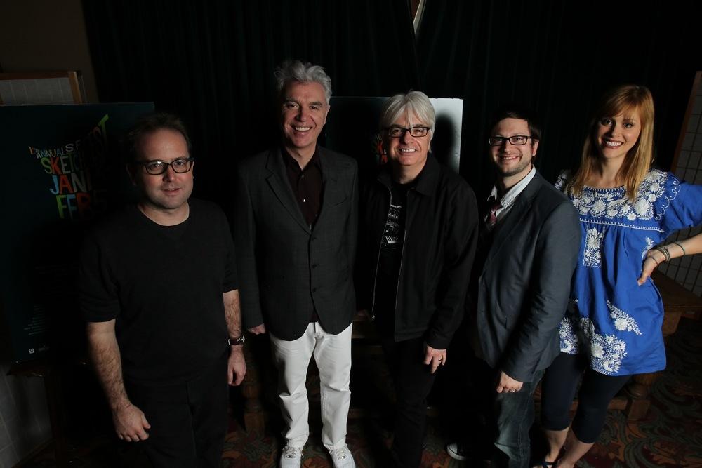 David Owen, David Byrne, Paul Myers and Janet Varney. Photo by Jakub Mosur.