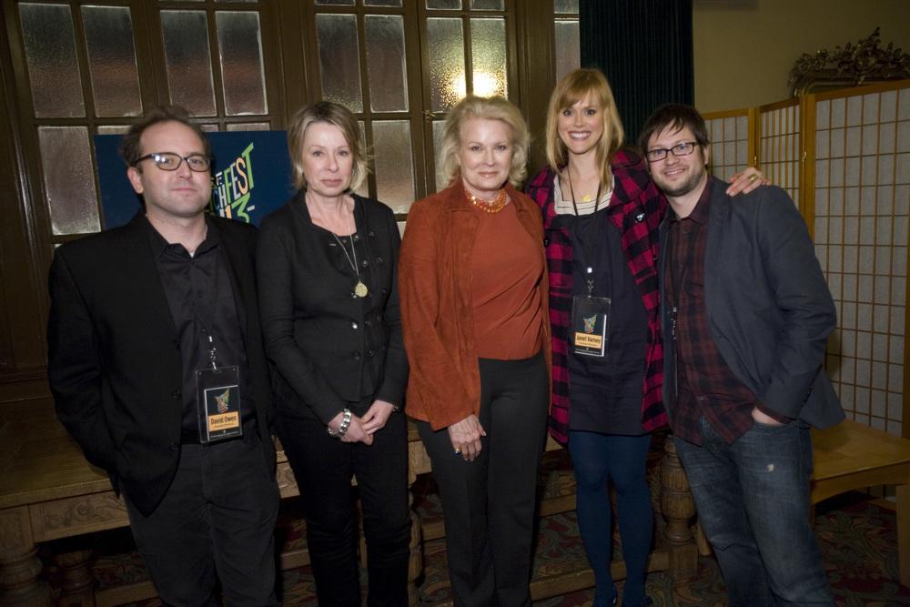 David Owen, Diane English, Candice Bergen and Janet Varney. Photo by Jakub Mosur.